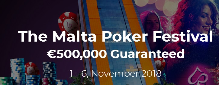 Malta Poker Festival on November 1-6 features €500K Guaranteed for Players