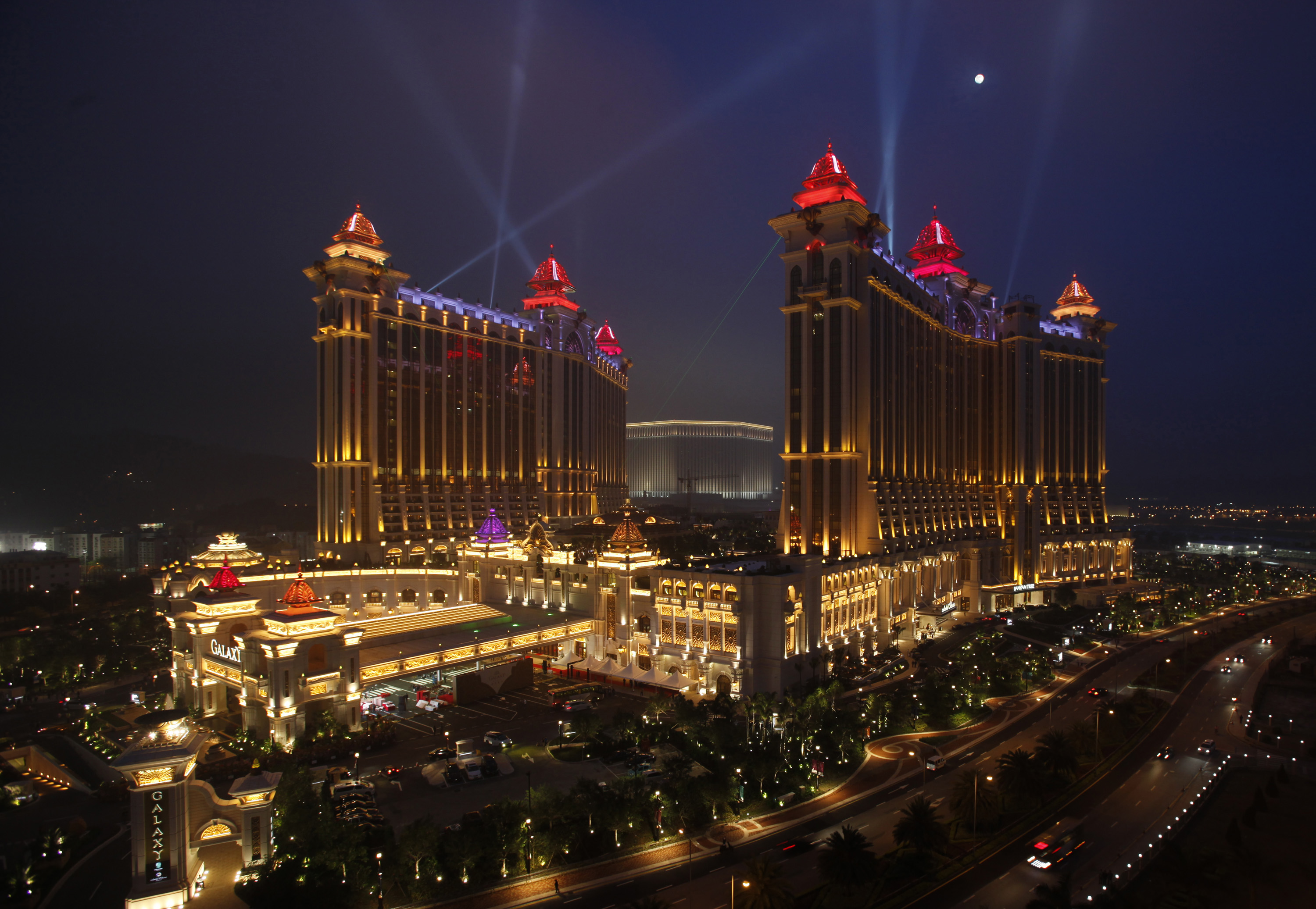 View of Macau casinos