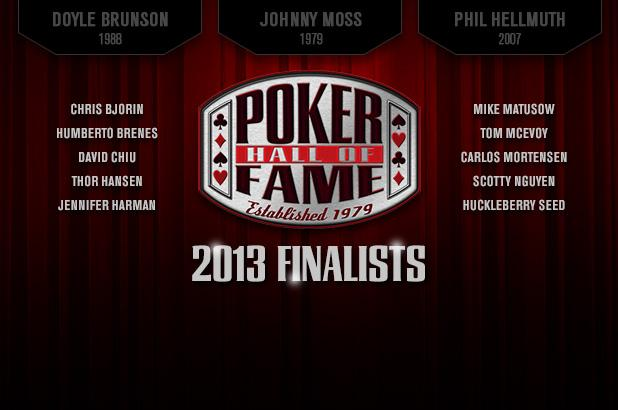 List of poker hall of fame members