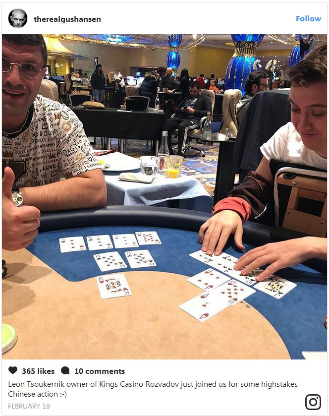 Gus Hansen Loses 500 000 Pot To King S Casino Owner Poker Casino Betting News From Bankrollmob Com
