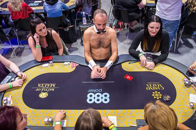 Women upset in Ladies Event with Topless Male Dealers at BOM Poker Festival