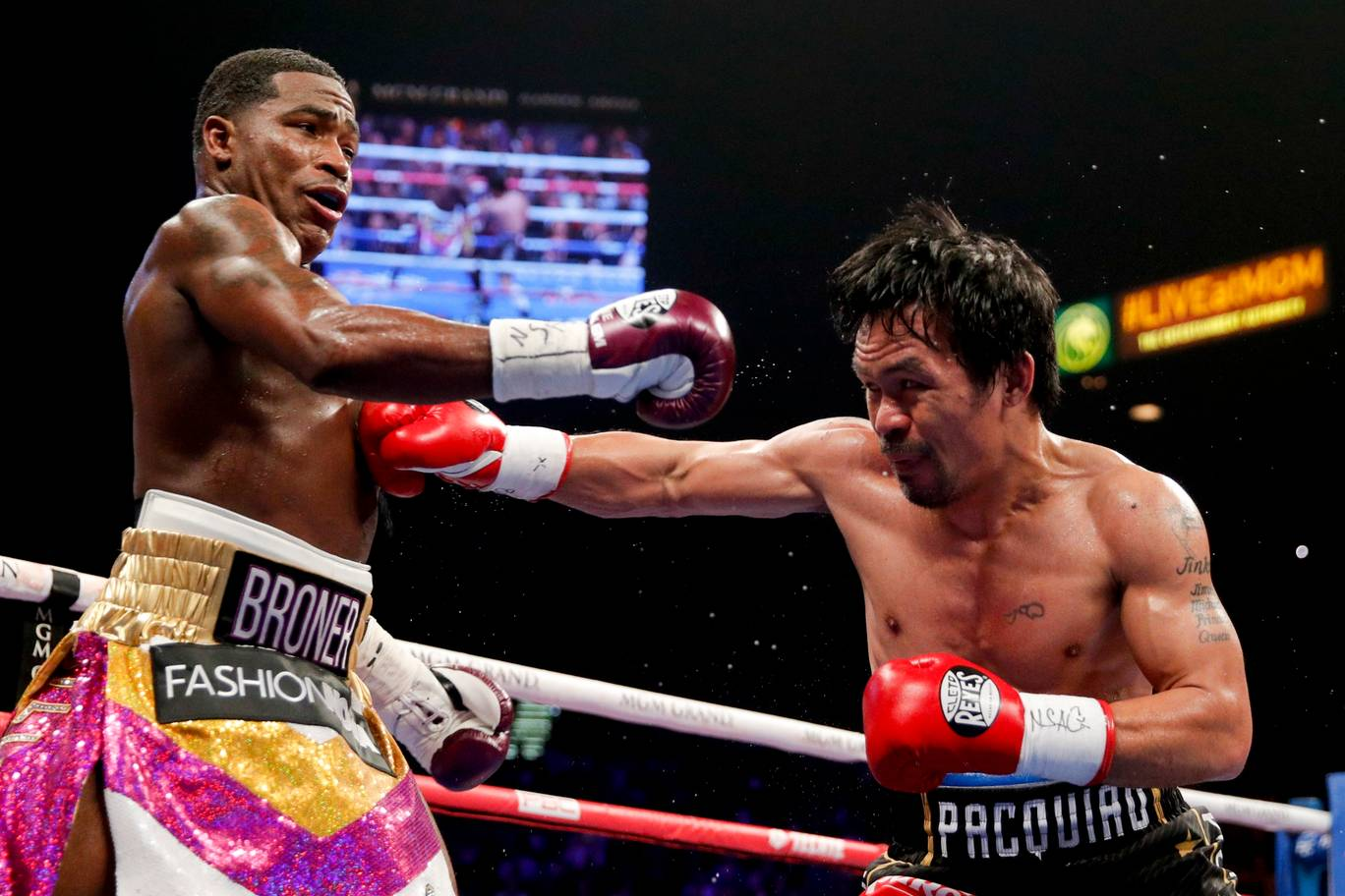 Manny Pacquiao wins against Adrien Broner to retain WBA World Title