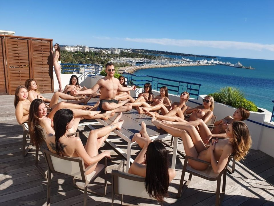 "Dan ""Jungleman"" Cates celebrates Cannes Cash Game Win with Playboy Bunny Party"