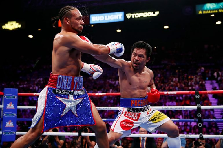 Manny Pacquiao beats Keith Thurman to win WBA Super World Welterweight Championship Belt