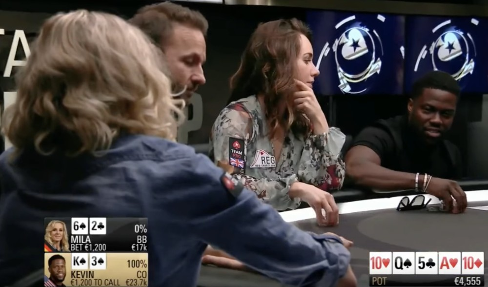Kevin Hart wins €40K Pot, Returns €15K to Opponent out of Pity