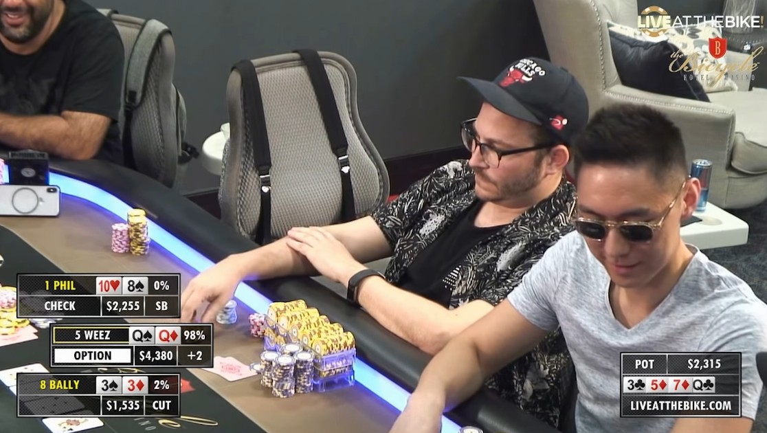 Watch How Poker Player turned $50 into almost $10,000 at Bicycle Casino