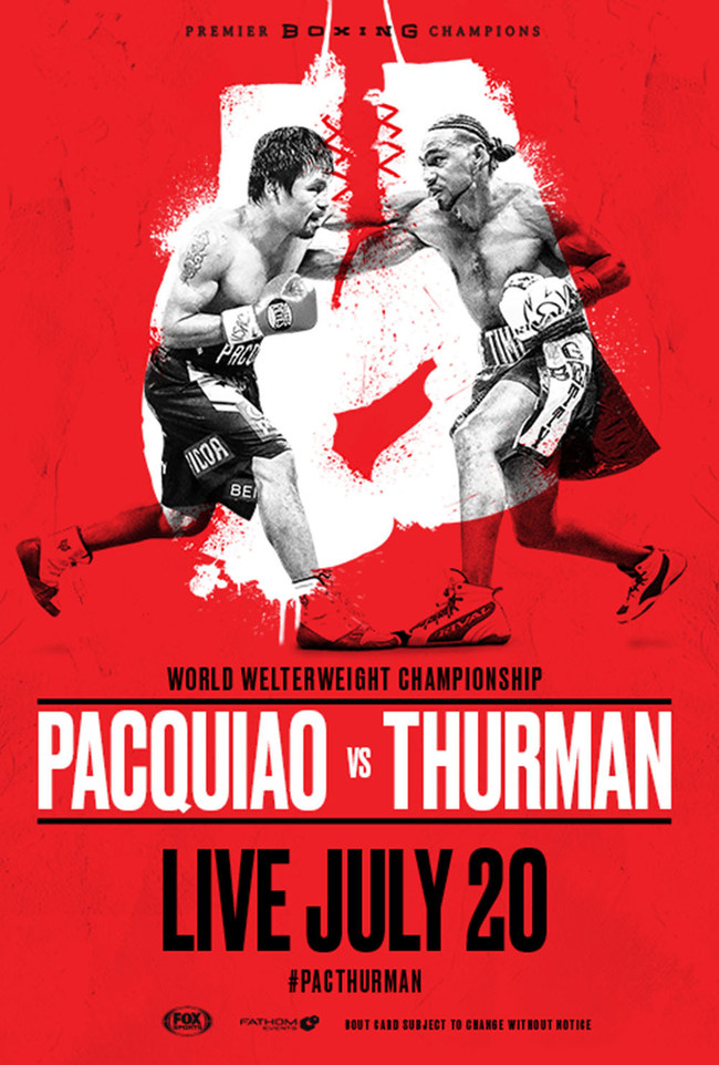 Boxing: Manny Pacquiao vs Keith Thurman on July 20 at the MGM Grand