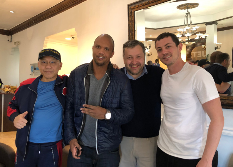 From left to right: Paul Phua, Phil Ivey, Tony G and Tom Dwan