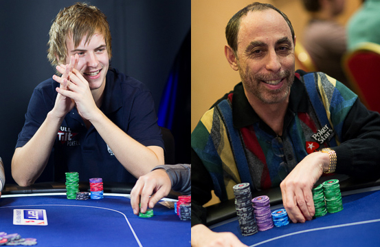 Viktor Blom and Barry Greenstein at EPT London