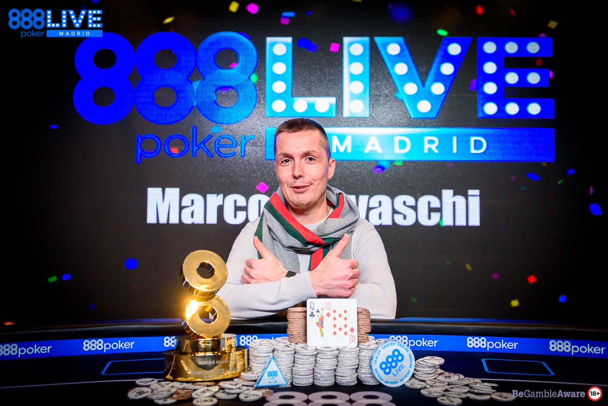888poker LIVE Madrid - Satellite Qualifier Marco Biavaschi Turns €100 into a Whopping €150,000 Payout