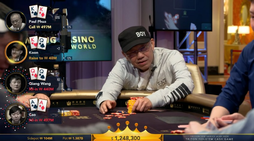 Paul Phua with pocket kings