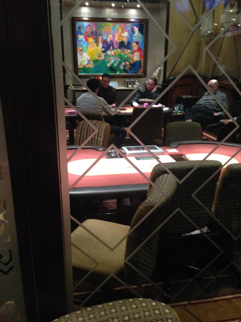 Picture taken from outside Bobby's room - where Loman followed the epic heads-up