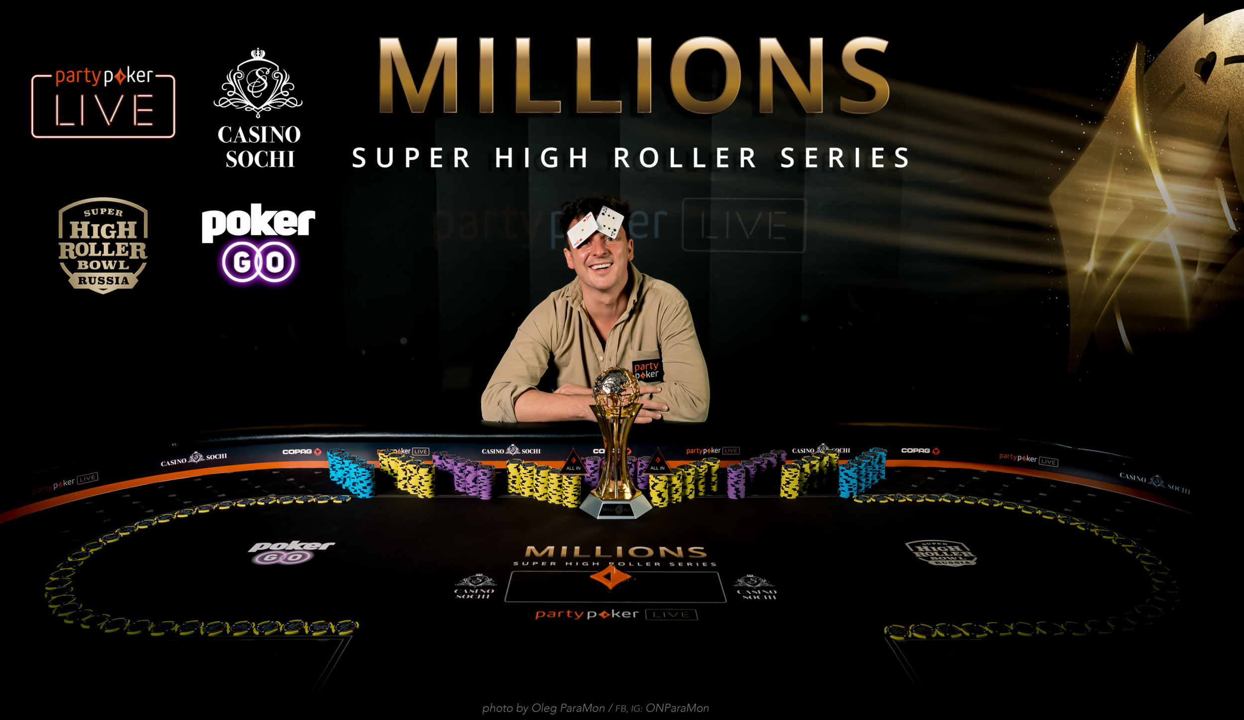 Sam Trickett wins Event #2 of partypoker MILLIONS Super High Roller Series Sochi for $435,000