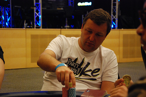 Tony G at 2012 WPT Malta, where he finished 10th place for € 6,150)