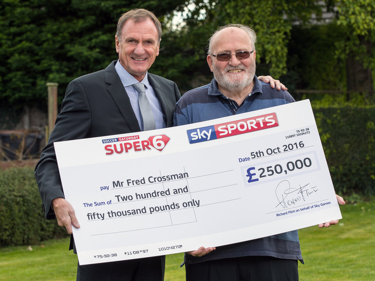 Lucky Pensioner Correctly Predicts Super 6 Scores For �250,000!