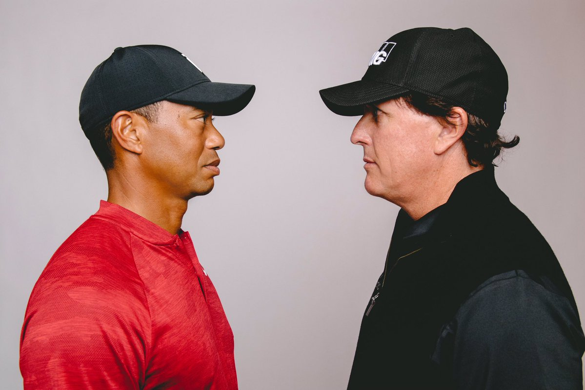 Tiger Woods vs Phil Mickelson in The Match