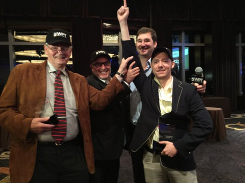 Winner Antonio Rodriguez, Dan Shak (2nd), Phil Hellmuth senior (3rd)and Phil Hellmuth
