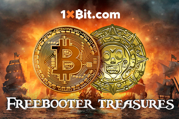 "Win BTC Prizes in the New Monthly Tournament ""Freebooter Treasure"" at 1xBit"