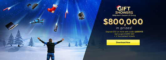 It's raining $800,000 in gifts at 888poker!