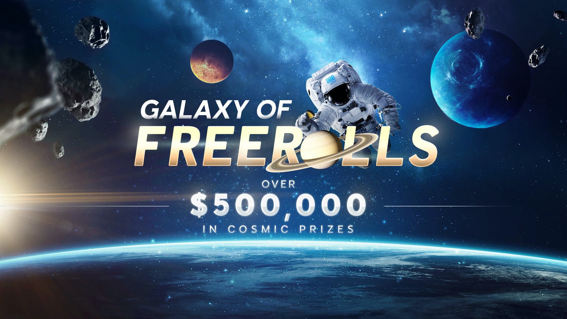 888poker Latest Promo - Galaxy of Freerolls