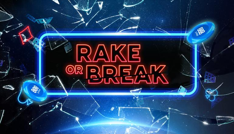 888poker promo Rake or Break smashes the Standard Tournament Format