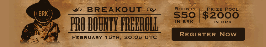 $2,000 BRK Bounty Freeroll Coming Up!