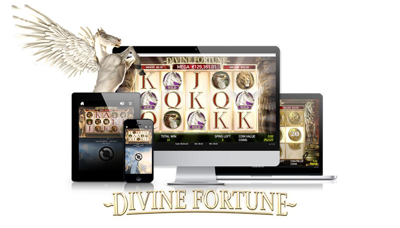 Up To 100 Free Spins on Divine Fortune (NetEnt