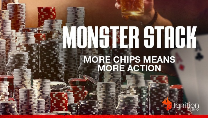 Ignition Poker offers Three Monster Stack Tournaments Daily