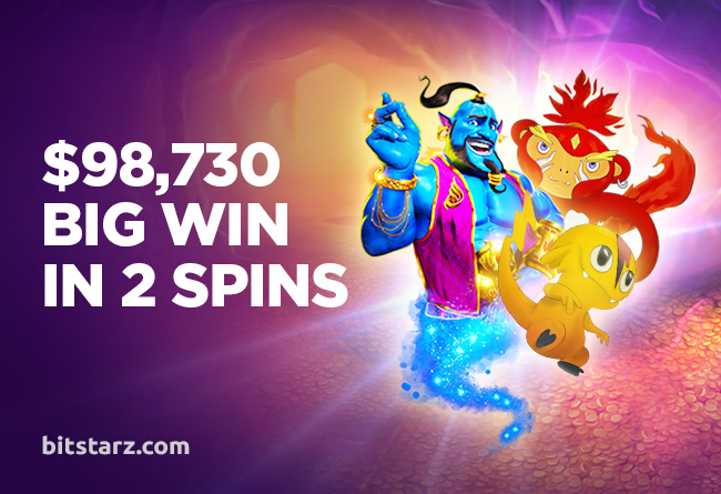 BitStarz Player Wins $98,730 in Just Two Spins!