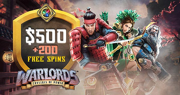 20 Free Spins (no deposit required) on Warlords!