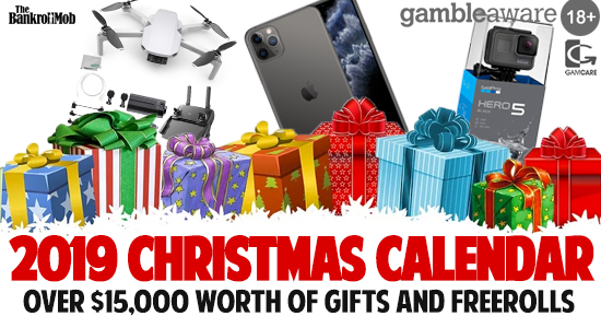 2019 Christmas Calendar! Over $15,000 Worth Of Gifts & Freerolls!