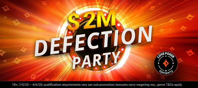 partypoker Latest Promo - $2M Defection Party