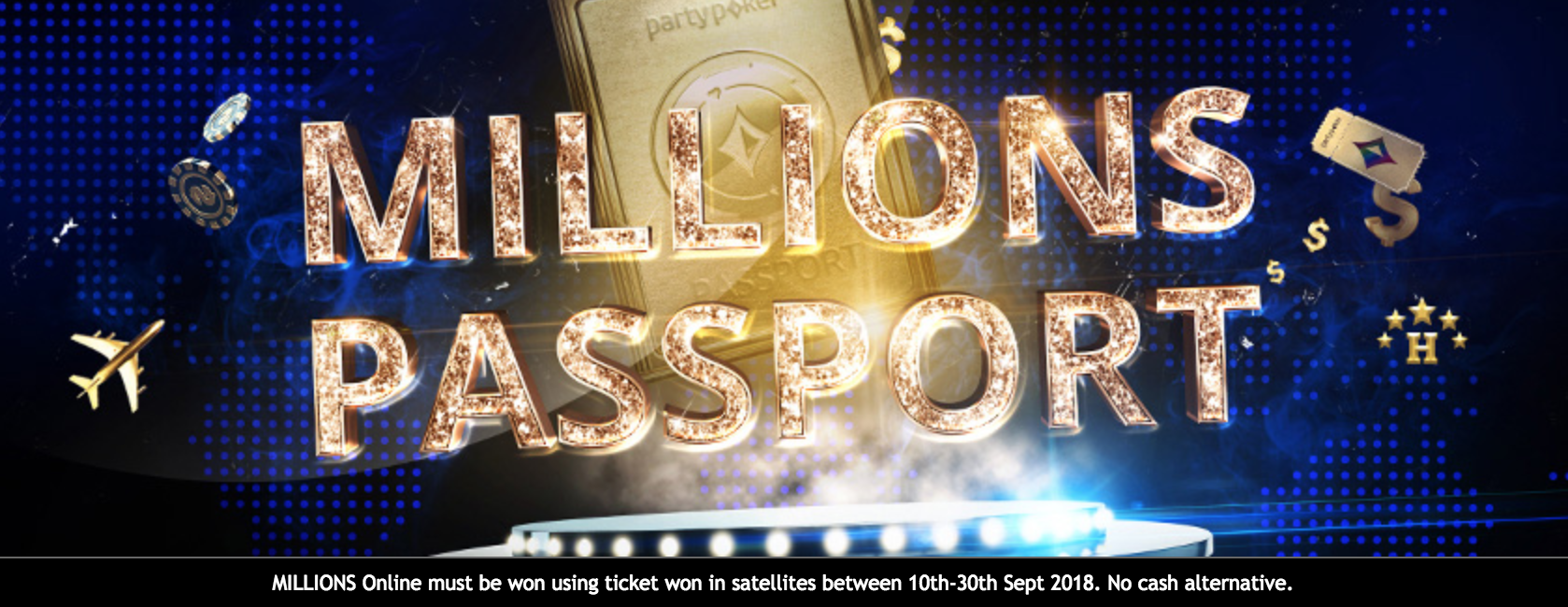 partypoker to give One Lucky Player a $500,000 MILLIONS PASSPORT