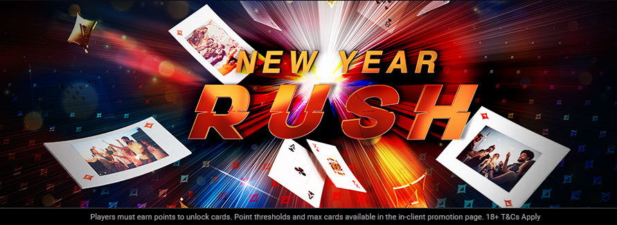 partypoker New Year Rush Promotion - Win $100K in Prizes Every Week