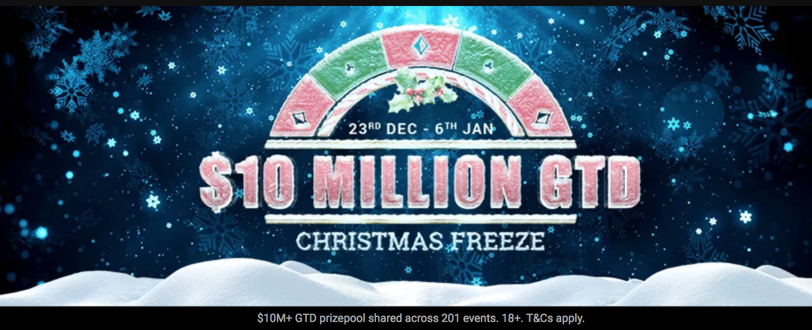 "partypoker announces inaugural $10m GTD ""Christmas Freeze"" series"