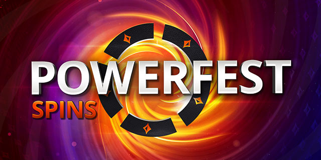 partypoker Latest Promo - Turn $5 into a $5,200 ticket with POWERFEST SPINS