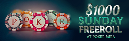 $1,000 Freeroll This Sunday!