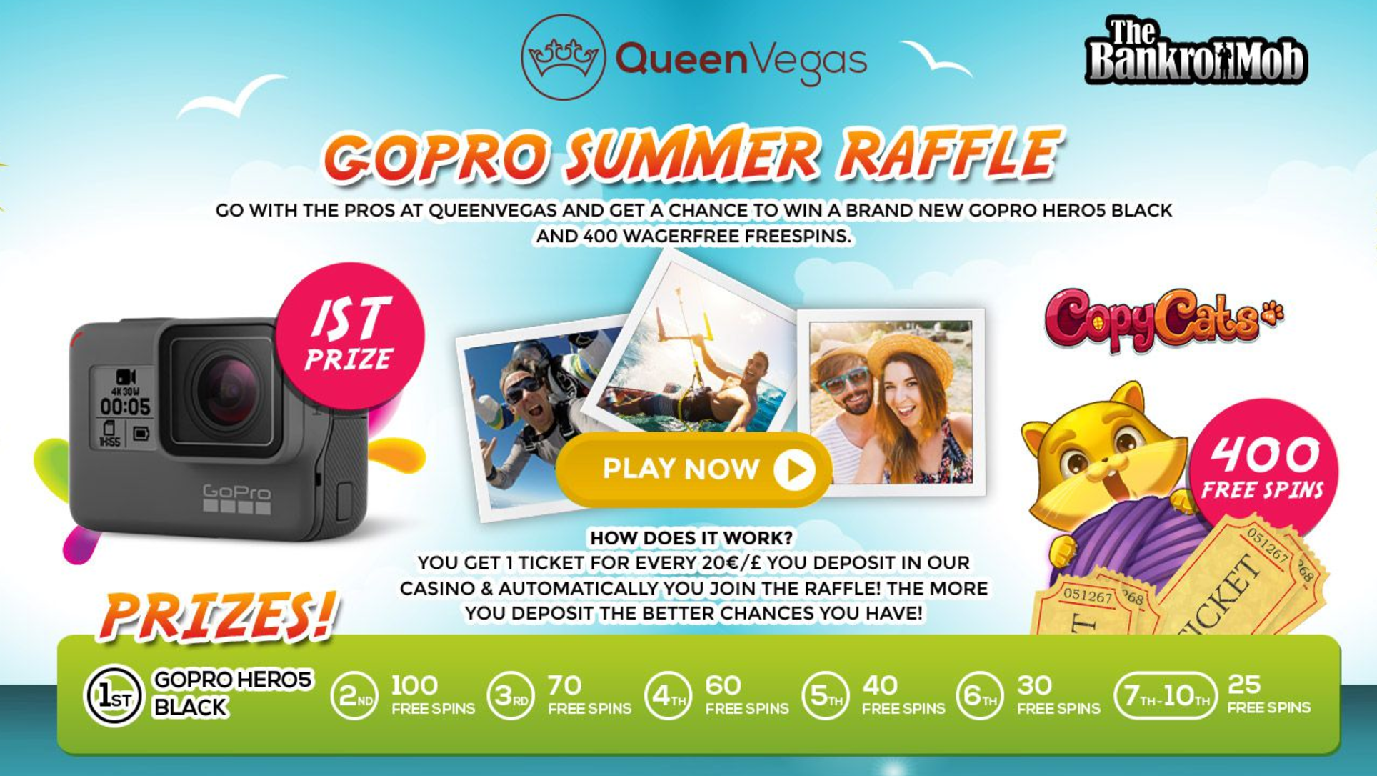 BankrollMob Exclusive: QueenVegas Summer Raffle