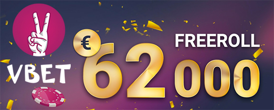 €62,000 Freeroll at Vbet Poker!
