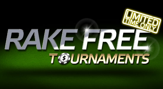 Free Party Poker no deposit bonus and rake free tournaments