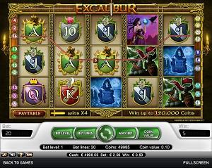 Excalibur - Free Medieval British Slot