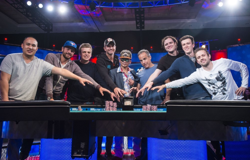 Meet The November Nine Of The 2016 WSOP Main Event