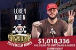 2018 WSOP: Loren Klein Wins Third Bracelet in Three Years!
