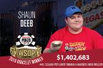 2018 WSOP: Shaun Deep Wins Third WSOP Bracelet in $25,000 POT-LIMIT OMAHA 8-HANDED HIGH ROLLER