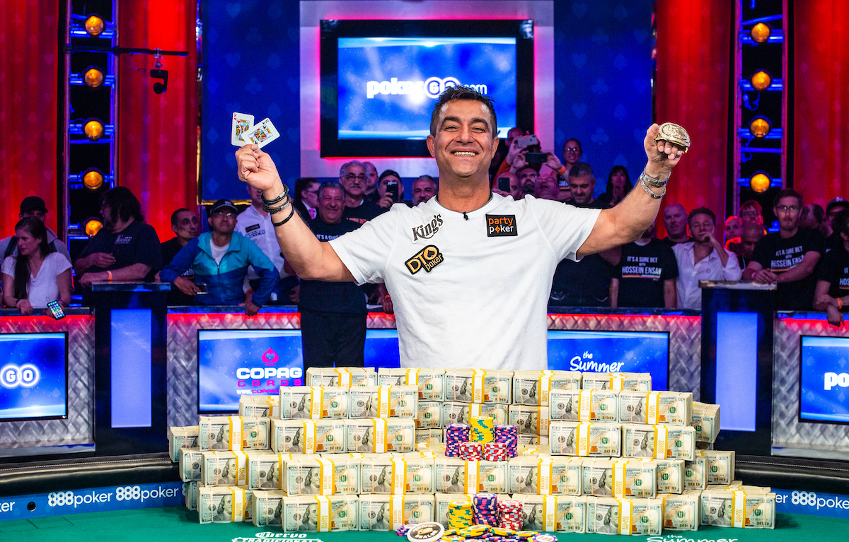 2019 WSOP Event #73: $10,000 Main Event won by Hossein Ensan for $10 Million