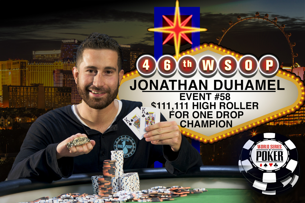 2015 WSOP: JONATHAN DUHAMEL WINS 2015 HIGH ROLLER FOR ONE DROP