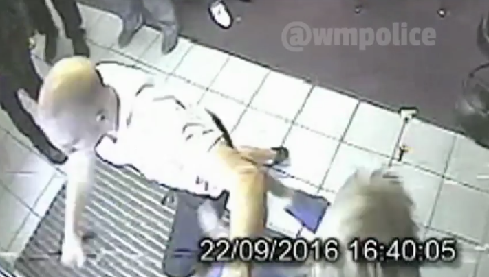 Drunken man robs a UK betting shop, headbutts glass door to escape