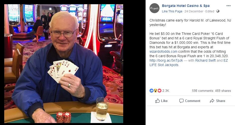 After Wife Cleared from Cancer, Grandpa wins $1Million on $5 Bet in Casino  - Poker/Casino/Betting News from BankrollMob.com