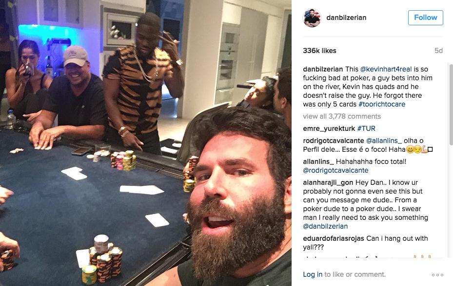 Dan Bilzerian Kevin Hart Is So Fucking Bad At Poker Poker - Look life dan bilzerian one successful poker players ever