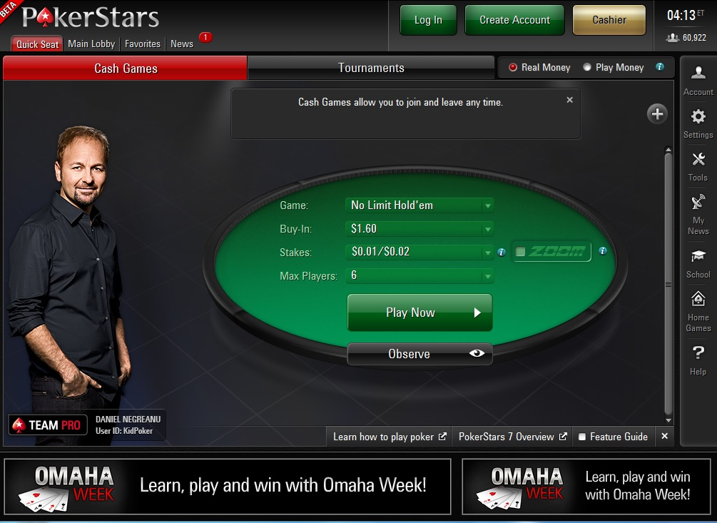 pokerstars desktop version